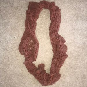 Accessories - Dusty Pink Ruffled Infinity Scarf